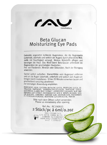 RAU Beta Glucan Moisturizing Eye Pads