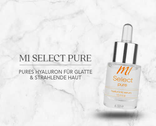 M1 Select pure 30 ml mit Hyaluronsäure